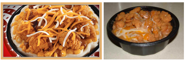 KFC Famous Bowl - Fast food: ads vs reality