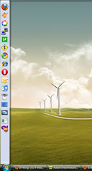 Detached and docked Quick Launch bar in Windows Vista